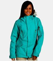 Burton TWC Parka Jacket Womens Waterproof Insulate Ski Snowboard Green 2XS