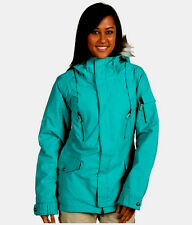 Burton TWC Parka Jacket Womens Waterproof Insulate Ski Snowboard Green 2XS