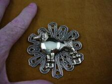 (B-DOG-170) Poodle dog lover Standard Poodles brass pin pendant