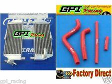 aluminium radiator +hose Kawasaki KX125 KX250 1994-2002 95 96 97 98 99 00 01 02