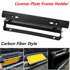 Universal Racing Carbon Fiber Look Car Number License Plate Frame Holder Bracket
