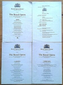 Individual Royal Opera cast lists 1990-1994, Royal Opera House Covent Garden