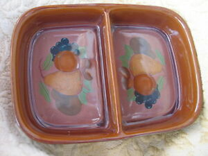 DENBY ORCHARD DIVIDED SERVING DISH boxed