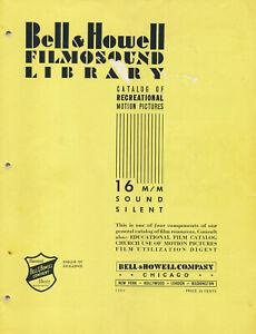 1941 Bell & Howell Filmosound Film Library Catalog (NR)
