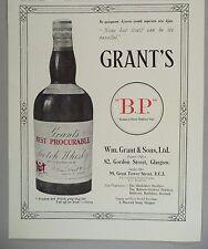 Grant's Scotch Whiskey PRINT AD - 1928