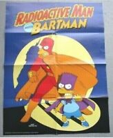 The Simpsons Comic Radioactive Man Bartman POSTER 1990s Promo Insert -A19-32