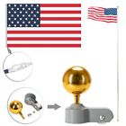 20ft Solemn Outdoor Decoration Sectional Halyard Pole America Flag Flagpole Kit