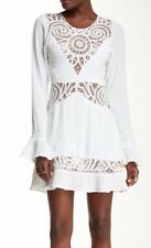 NWT $295 For Love & Lemons Valentina Mini Dress (XS) SOLD OUT! Crochet Insets