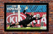 FIFA World Cup Soccer Event Brazil | TIM HOWARD Poster | 11 x 17 inches