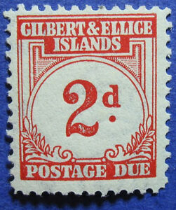 1940 GILBERT ELLICE IS 2d SCOTT# J2 SG# D2 UNUSED CS06955