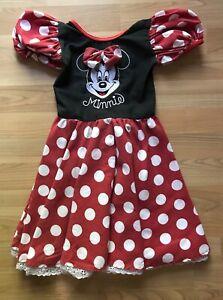 Vintage Disney Disneyland Minnie Mouse Costume Dress Girls Size 4-6 4 6