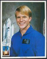 s1416) Raumfahrt STS Astronaut George D. Nelson - NASA Photo JSCL 184 Autograph