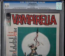 VAMPIRELLA #3 (Jan 1970,Warren) CGC 8.0 VF   Low Distribution