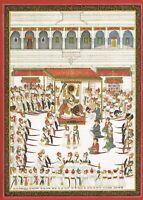 Hand Painted Rajput Painting Udaipur Maharaja Court Scene Mewar School Finest