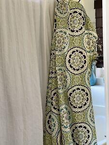 Cotton fabric shower curtain