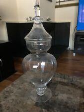 Elegant Clear Glass Apothecary Jar with Lid - High Glass Canister - PICK UP ONLY