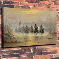 "Art Canvas Print Oil Painting The Confederate Army war horse Home Decor 18""x24"""