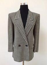 Christian Dior Vintage Wool Houndstooth Black & White Blazer Jacket 10