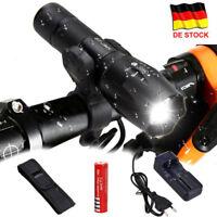 LED Polizei Taschenlampe Cree T6 Wiederaufladbare Zoom Licht +18650 & Ladegerät