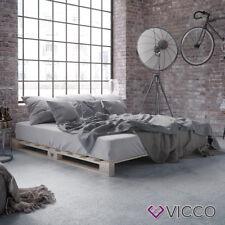 VICCO Palettenbett Bett Massivholzbett Holzbett Palettenmöbel Futonbett 180x200