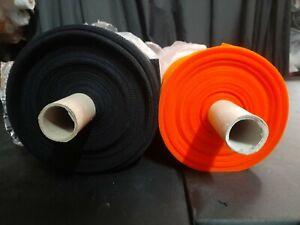 2 ROLLS - BLACK & ORANGE - STIFF TULLE FABRIC - HALLOWEEN COSTUMES - 300cm wide