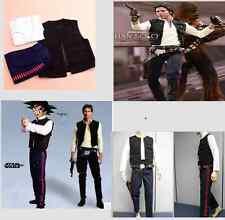 Customize Star Wars Han Solo ANH Costume Vest t-shirt Pants Belt Set Men Cosplay