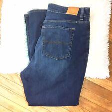 Lucky Brand Womens Emma Straight Jeans Denim Plus Size 24W Dark Wash