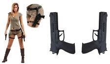 Holster double cuisses Lara Croft deguisement cosplay accessorie AVEC pistolets
