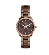 Fossil ES4258 Women's Tailor Brown Dial Day/Date Stainless Steel Bracelet Watch
