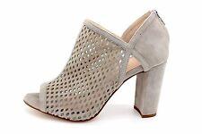 Wesla Light Grey Suede Peep Toe Shoe Boot UK 3 - Brand New & Boxed