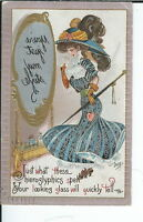AX-074 - You're My Style, Artist Signed by DWIG 1907-1915 Golden Age Postcard