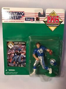 1995 Kenner Starting Lineup SCOTT MITCHELL Detroit Lions Action Figure Toy