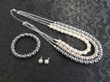 NWT Avon Brand Jolene 3 Pce Pearl Gift Set Necklace Earrings Bracelet