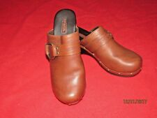 Women's Harley Davidson Brown Leather Clogs Size 6