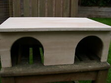 """18"""" x 12"""" x 6""""  Guinea Pig / Small Animal Twin Door Play House / Hide / Shelter"""