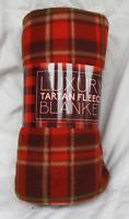 Tartan Fleece Blanket / Warm Snuggler / Throw / Travel Rug - BNWT