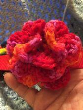 SALE!!!  Crochet Flower for Dog or Cat Collar Sangria