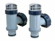 Intex 25010 Above Ground Plunger Valves with Gaskets and Nuts - Pack of 2