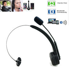 Wireless OverHead Headset Truck Driver Bluetooth Boom Mic Phone Noise Cancelling