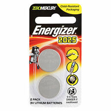Energizer Coin Battery: Lithium Battery Ecr2025 3.0V 3 Volt 2 Pack NEW!