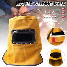 Splash Proof Leather Welding Hood Welding Mask Heat Resistant Welding Helmet