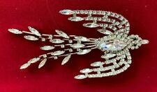 Butler and Wilson Crystal Glass Bird Corsage Pin