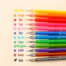 New Candy Color Diamond 0.5mm Gel Pen School Supply Draw Colored Pen Student