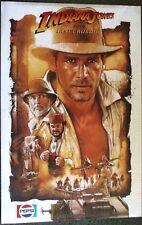 Indiana Jones and the Last Crusade 1989 Pepsi Promo Movie Poster 24x32 Unopened