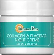 COLLAGEN & PLACENTA NIGHT CREAM 2 oz Skin Care Anti Aging Face Neck Creme