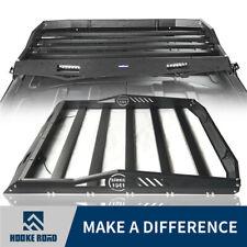 Hooke Road Rear Half Roof Rack Luggage Carrier for Jeep Wrangler JK 07-18 4 Door
