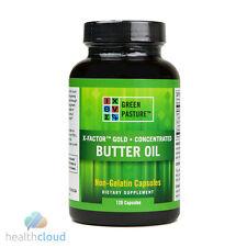 Green Pasture Blue Ice X-Factor Gold High Vitamin Butter Oil (120 Veg Capsules)