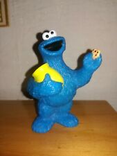Vintage Cookie Monster Collectable Figure - Sesame Street - 8 cm - Tyco - 1997
