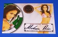 2013 Benchwarmer Melissa Riso Vegas Baby Autographed Card Green Chip
