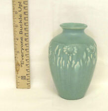 Vintage 1930 Rookwood Arts & Craft Pottery  DAISY Matte Blue Cabinet Vase #2591